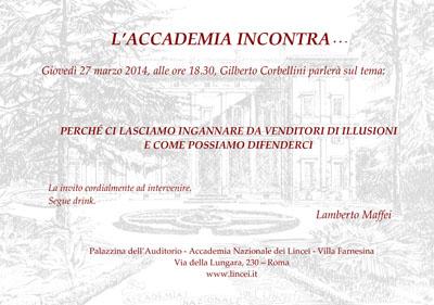 Accademia incontra - corbellini 2014